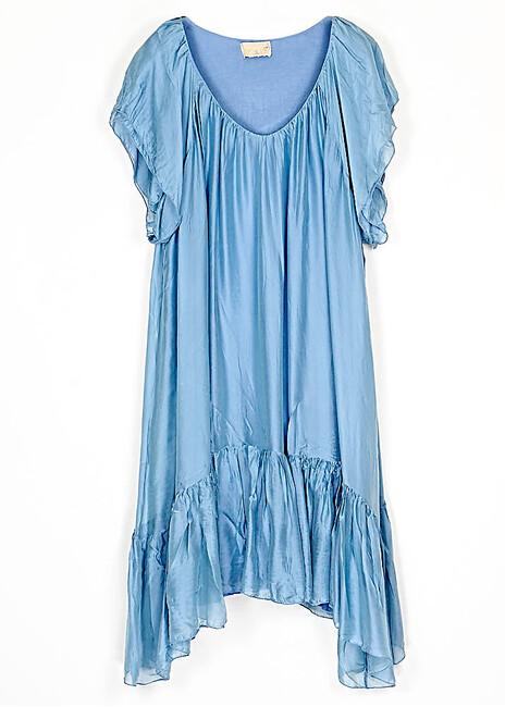 dress-schiffon-silk-with-sharp-length-sleeves-cuca.gr